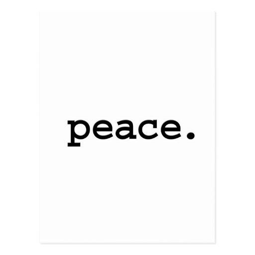 paz tarjeta postal