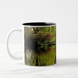 paz taza de café de dos colores