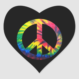 Paz teñida lazo pegatinas corazon