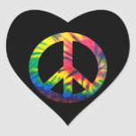 Paz teñida lazo pegatinas corazon personalizadas