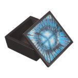 Paz teñido anudada azul caja de regalo de calidad