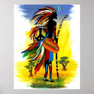 Paz tribal póster