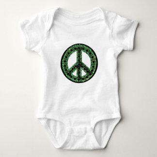 paz verde body para bebé