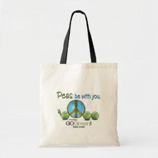 Paz verde bolsas