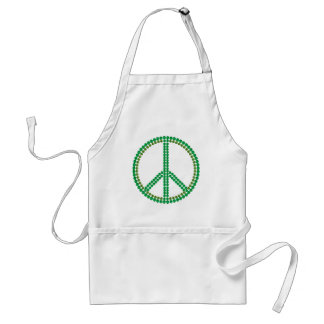 Paz verde delantal