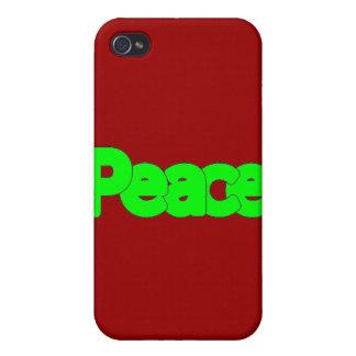 ¡Paz verde! - Estuche rígido cabido mota para el i iPhone 4/4S Carcasa