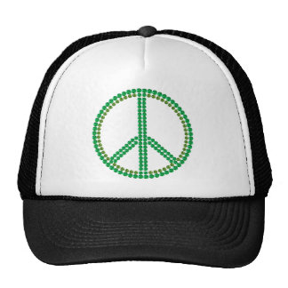 Paz verde gorros bordados