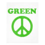 Paz verde membrete a diseño