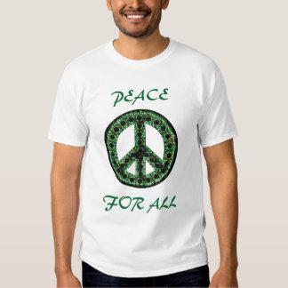 paz verde para toda la camiseta playeras