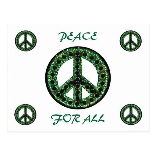 paz verde para toda la postal