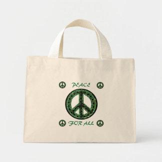 paz verde para todo el bolso bolsa tela pequeña