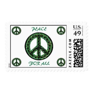 paz verde para todo el franqueo