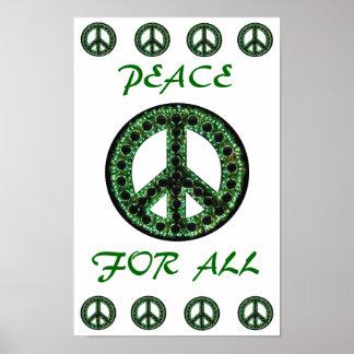 paz verde para todo el poster