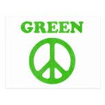 Paz verde postal