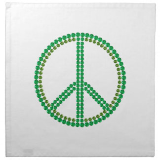 Paz verde servilleta