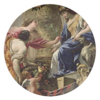 Paz y abundancia principales, c.1645 (aceite de la platos
