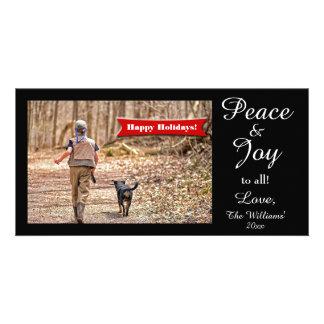 ¡Paz y alegría a todos! Día de fiesta de la Tarjetas Fotográficas Personalizadas