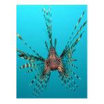 Paz y alegría comunes de la libertad del lionfish postal