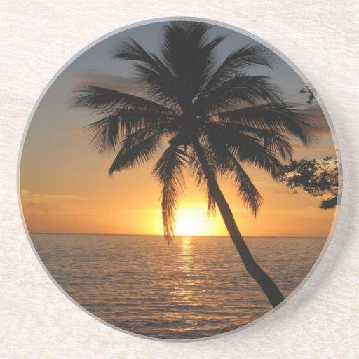 Paz y alegría de Fiji de la palmera del coco de la Posavasos Para Bebidas