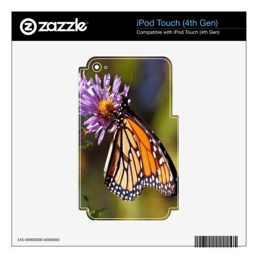 paz y alegría de la belleza de la mariposa de mona iPod touch 4G skin