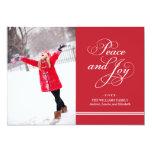 Paz y alegría de la tarjeta el | de la foto del comunicados personalizados