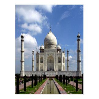 Paz y alegría del Taj Mahal Agra la India Tarjetas Postales