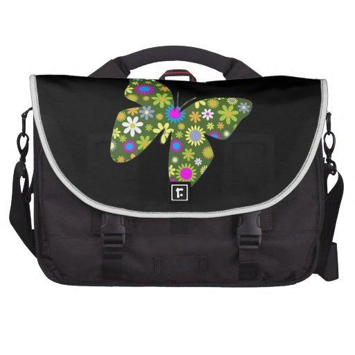 paz y alegría florales retras enrrolladas de la be bolsas de portátil