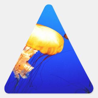 paz y alegría marinas azules de las medusas calcomanías de triangulos