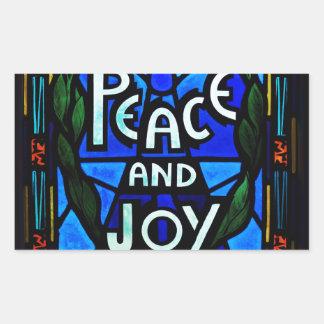 Paz y alegría rectangular altavoz
