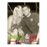 Paz y alegría postal