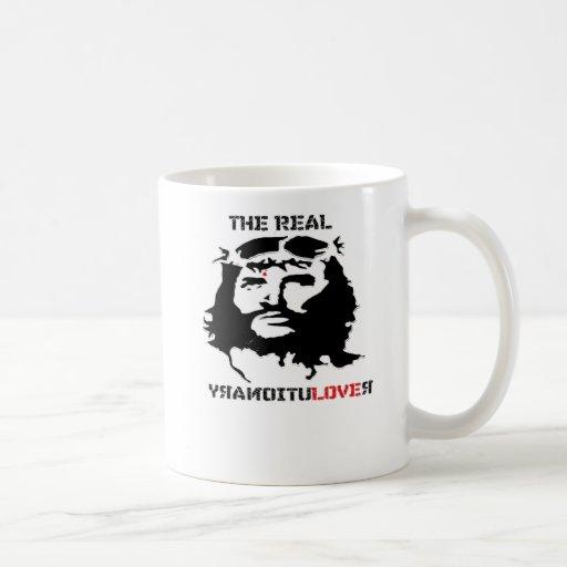 paz y alegría reales de la revolución del Jesucris Tazas De Café