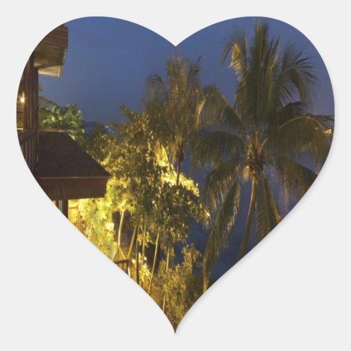 Paz y alegría románticas Sentosa Pegatina En Forma De Corazón