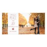 Paz y alegría - tarjeta de la foto de familia tarjeta fotografica personalizada