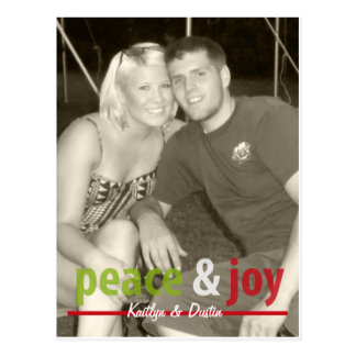Paz y alegría tarjetas postales