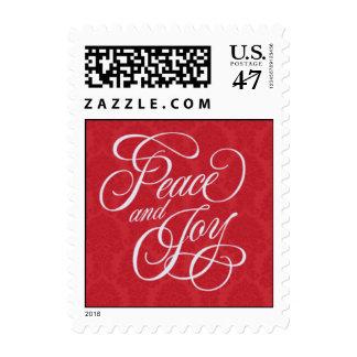 Paz y alegría timbre postal