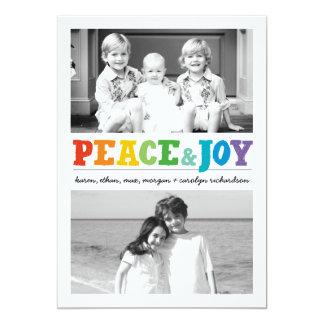 Paz y alegría x multi 2 invitación 12,7 x 17,8 cm