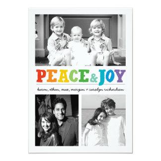 Paz y alegría x multi 3 invitación 12,7 x 17,8 cm