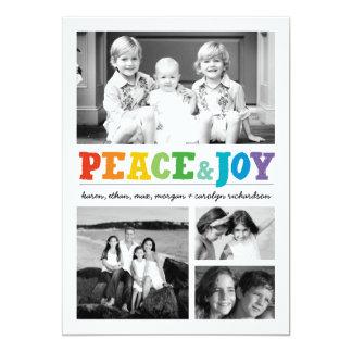 Paz y alegría x multi 4 invitación 12,7 x 17,8 cm