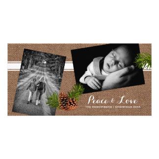 Paz y amor - arpillera Pinecones de las fotos del Tarjetas Fotograficas