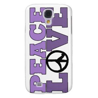 Paz y amor - caja púrpura del iPhone 3