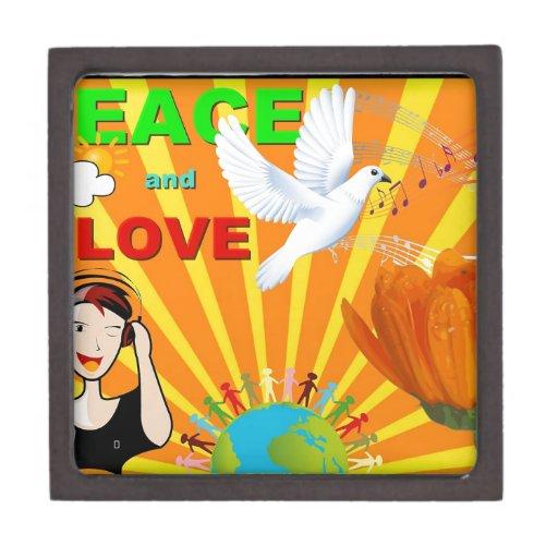 Paz y amor cajas de joyas de calidad