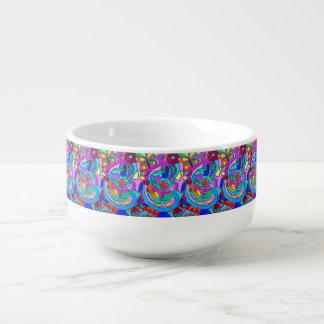 paz y amor coloridos maravillosos bol para sopa