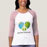 Paz y amor de mundo en mi corazón camiseta