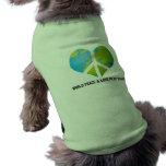Paz y amor de mundo en mi corazón camisa de perrito
