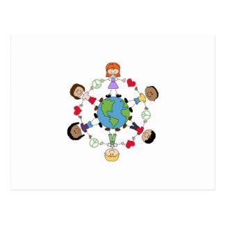 Paz y amor de mundo postales