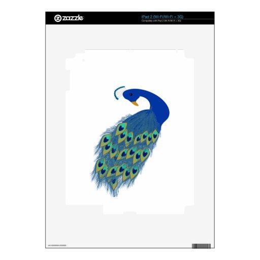 paz y amor del pavo real iPad 2 skins