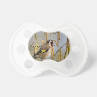 Paz y amor europeos del pájaro del Goldfinch Chupetes Para Bebes