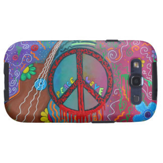 Paz y amor galaxy s3 fundas