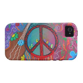 Paz y amor iPhone 4 carcasas