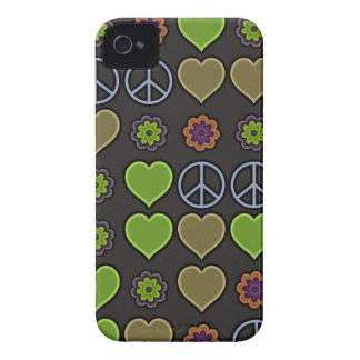 PAZ Y AMOR Case-Mate iPhone 4 FUNDAS